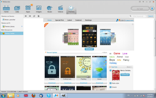 Moborobo screenshots