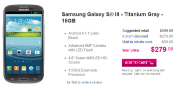 The Samsung Galaxy S III is now available in Titanium Gray from T-Mobile