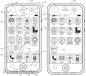 Sketch included with Apple's patent application