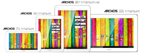 Archos announces Titanium Line: Archos 70, 80, 97 and 101 are affordable at all sizes