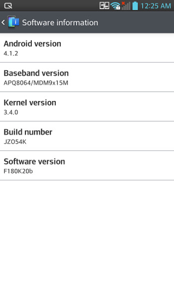 LG Optimus G official Android Jelly Bean 4.1.2 update starts rolling out... in Korea