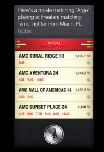 Siri can buy your movie ticket in iOS 6