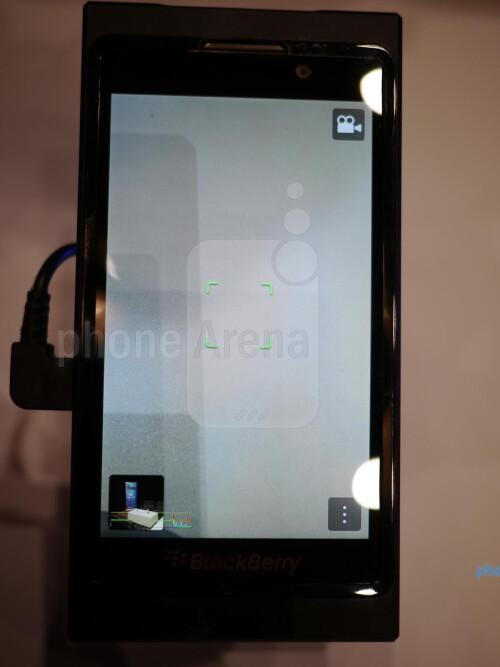 BlackBerry 10 software demonstration at CES