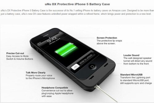 uNu DX Protective Battery Case for the iPhone 5 ($79.95)