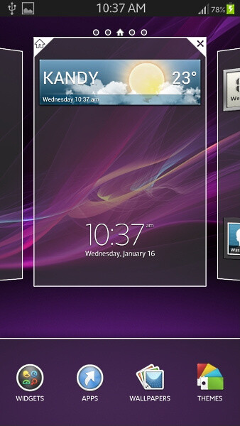 Xperia Z inspired launcher compatible with Android flagships by Samsung