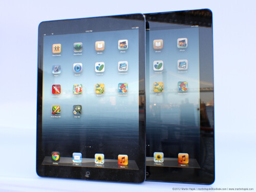 Artist rendering of a fifth-gen iPad
