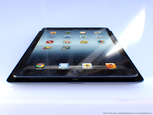 Artist rendering of a fifth-gen iPad