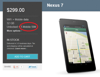 The Google Nexus 7 is now available for T-Mobile 3G