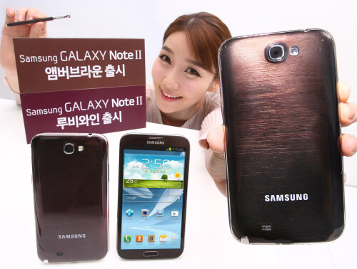 Samsung calls all fashionistas with Ruby Wine and Amber Brown Galaxy Note II