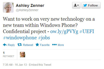 Windows Phone 8 secret project revealed by Microsoft job offering