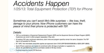 Sprint to introduce Total Equipment Protection for the iPhone next week