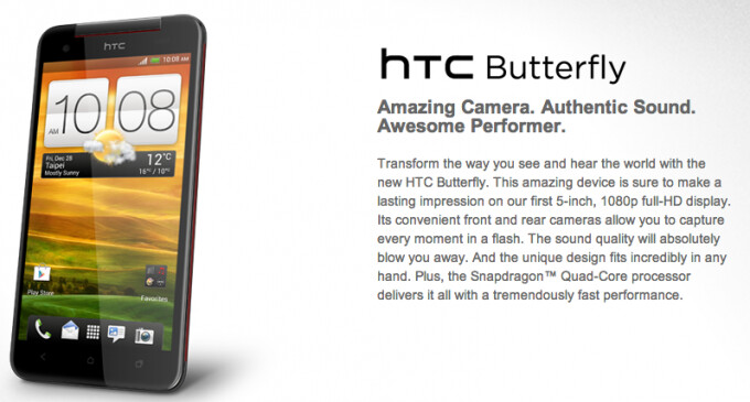 The HTC Butterfly is coming to India - India to see HTC Butterfly flitting its wings by the end of this month?
