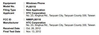 The FCC calls this model a Windows Phone, but the model number suggests a variant of the HTC One SV