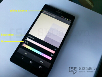 Display calibration software for the Sony Xperia ZL
