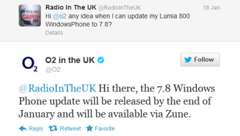 O2 also says that the update will commence January 31st