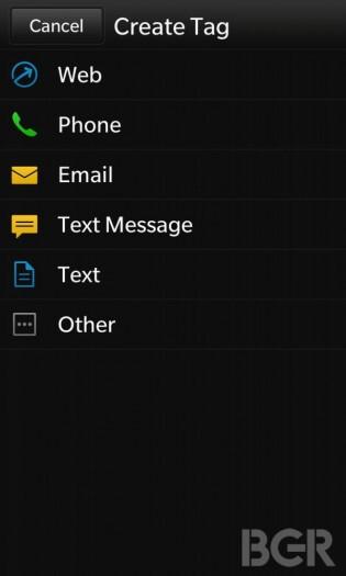 Screenshots of BlackBerry 10