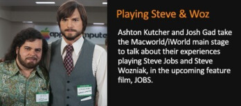 The stars of jOBS will appear at Macworld/iWorld