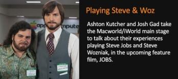 The stars of jOBS will appear at Macworld/iWorld