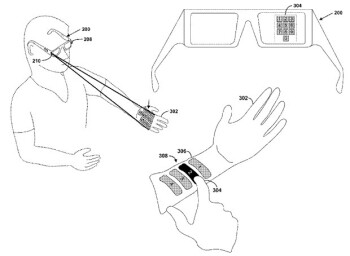 Patent shows potential controls for Google Glass