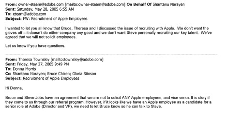 Illegal no-hire agreements were the norm at Apple, Google, others: emails leaked