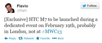 Will the HTC M7 be introduced a few days before MWC?
