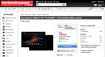 Sony Xperia Tablet Z starts globetrotting, up for preorder in Europe