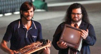 Kutcher and Gad as Jobs and The Woz