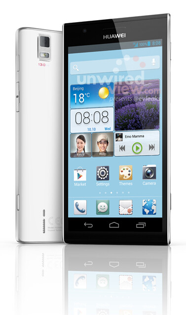 The Huawei Ascend P2 is believed to have a 4.5 inch screen with a FHD resolution - Huawei Ascend P2 poses for the camera with a 4.5 inch FHD screen