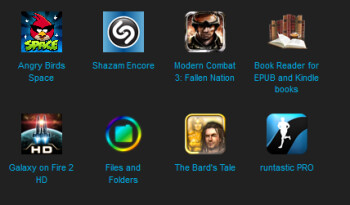 The current top paid apps at BlackBerry World