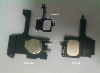 Parts allegedly for the Apple iPhone 5S and Apple iPhone 6