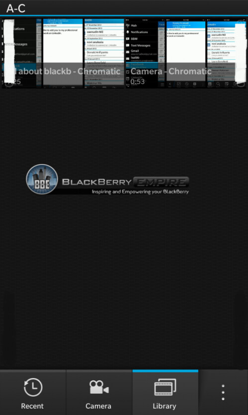 BlackBerry 10 photo and video gallery with BlackBerry Link