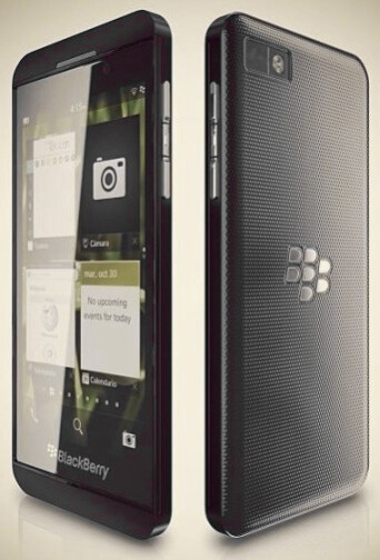Rendering of the leaked BlackBerry Z10 phone