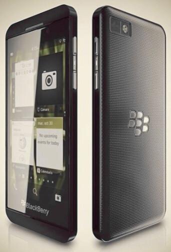 Rendering of the leaked BlackBerry Z10 phone