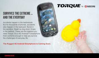 "Sprint makes the tough Kyocera Torque official, ""coming soon"" with bone-conduction tech"