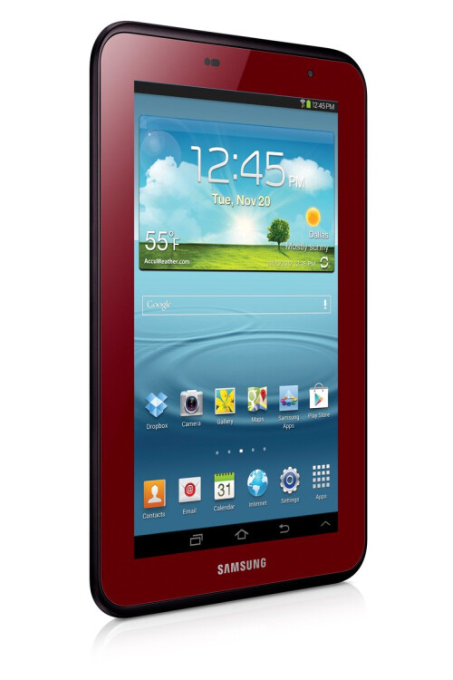 The Garnet Red Samsung Galaxy Tab 2 7.0