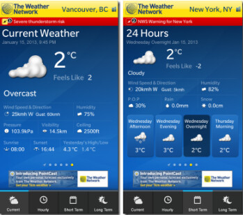 The Weather Network for BlackBerry 10