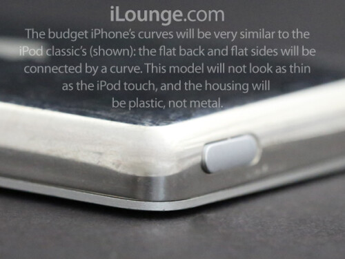 Expected design of the budget Apple iPhone