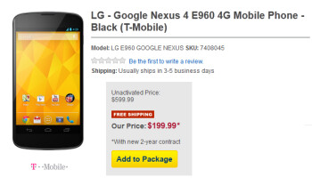 Best Buy will sell you the Google Nexus 4 on contract for $199.99