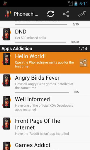 Unnecessary gamification? Phonechievements gives you points for using your Android phone