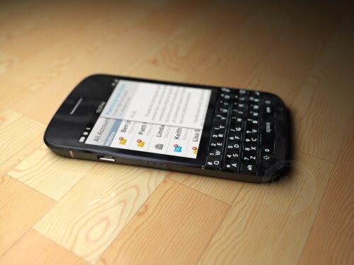 BlackBerry X10 stunningly realistic renders surface