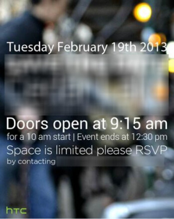 HTC M7 might indeed be announced soon, invites going out for a February 19 event in NYC