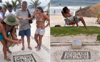 Tourists will find embedded QR codes throughout Rio de Janeiro offering fun facts and maps about the city