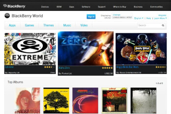 RIM BlackBerry World web storefront is online with apps, music and movies