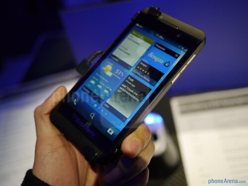 BlackBerry Z10 hands-on