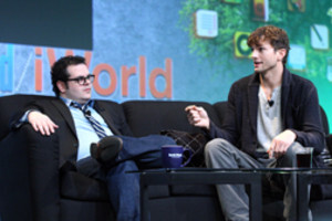 Josh Gad and Ashton Kutcher discuss Woz and Steve at Macworld