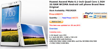 Pre-order the Huawei Ascend Mate for $575 USD