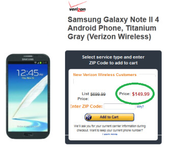 Amazon has a great deal on the Verizon branded Samsung GALAXY Note II
