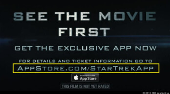 The App Store Short Links was used on this ad for the next Star Trek flick