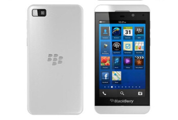 The BlackBerry Z10 in white is selling out in the U.K.