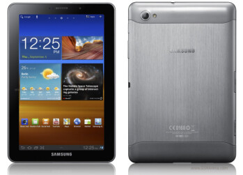 The Samsung Galaxy Tab 7.7 uses a Super AMOLED display